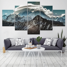 Himalayas landscape 5 Piece HD Wallpapers Art Canvas Print modern Poster Modular art painting for Living Room Home Decor forest waterfall landscape 5 piece canvas wallpapers modern modular poster art canvas painting for living room home decor