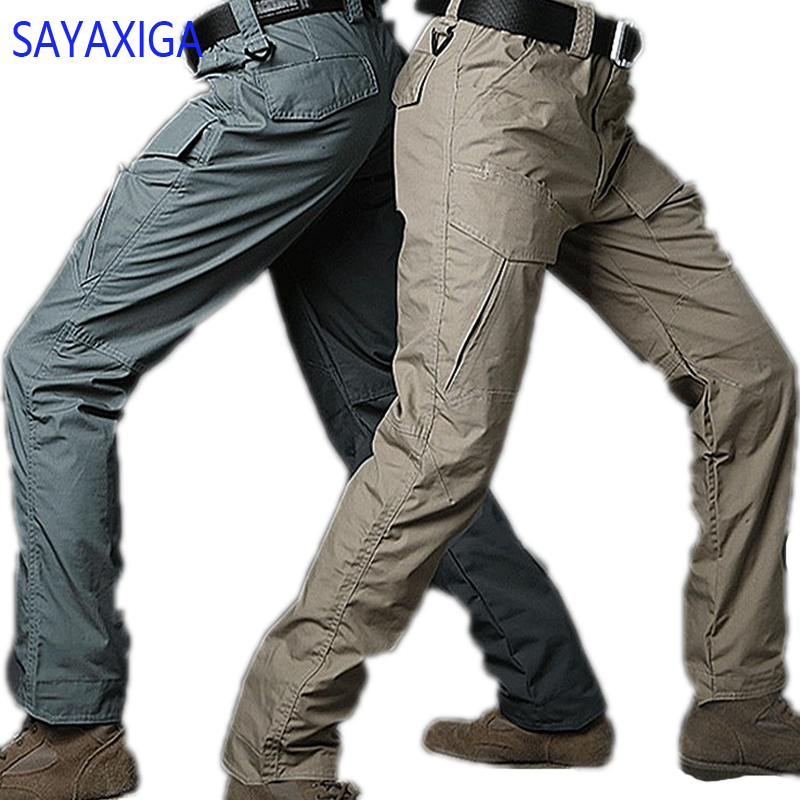2018 new arrival good quality high end Tactical Pants Men Camouflage Multi-pocket Anti Scratch Water Proof Trousers Cargo Pants