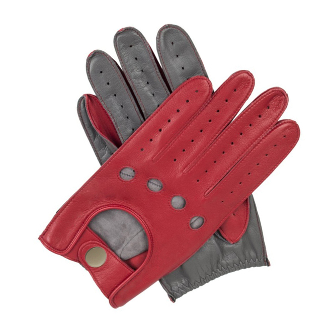 New Arrival Fashion Women Genuine Leather Gloves Nappa Sheepskin Wrist Unlined Breathable Black Red Driving Gloves Women Mittens 2