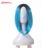 L Email Wig New Arrival 35cm Women Wigs Gradient Color Bob Wigs Heat Resistant Synthetic Hair