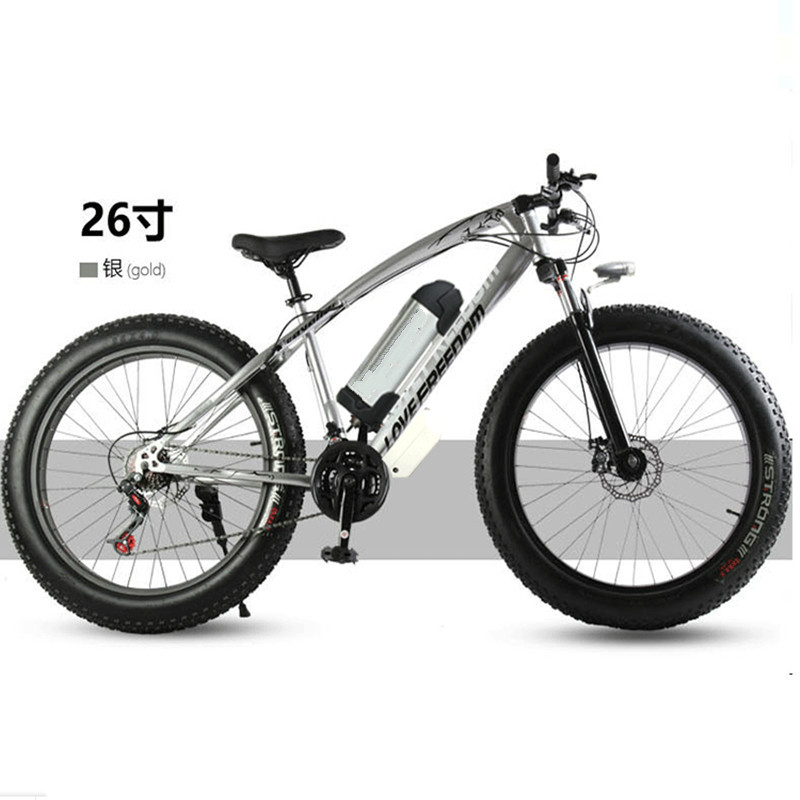 цена на Electric bicycle 36V 10.8ah 350W 7 speed powerful electric bicycle lithium battery electric bicycle 26 x 4 cross-country bicycl