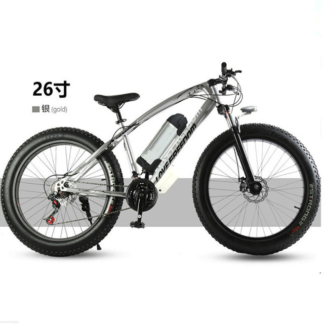 "Electric bicycle 36V 10.8ah 350W 7 speed powerful electric bicycle lithium battery electric bicycle 26 ""x 4 cross-country bicycl"