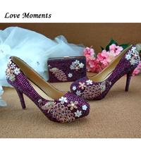 Love Moments Fashion Shoes and bags Woman Wedding shoes High heels platform shoes Ladies Party dress shoe with matching bag