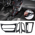 Car Interior Center Console Carbon Fiber Molding Sticker Decal for 2012 2013 Ford Focus 3 MK3 AT Automatic Car Styling