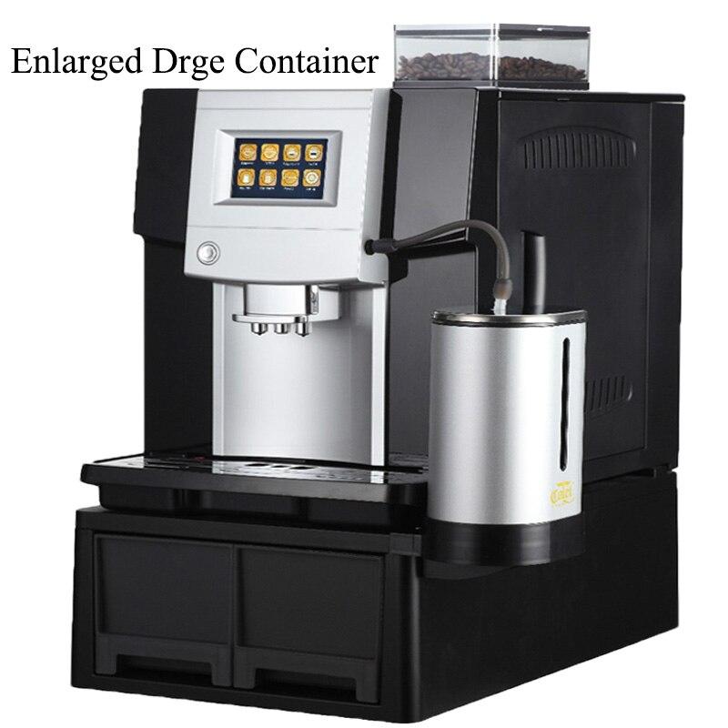 Полностью Автоматическая кофе машина CLT Q006A умный один сенсорный экран коммерческих/офис 19 бар увеличить отходов и bean контейнер