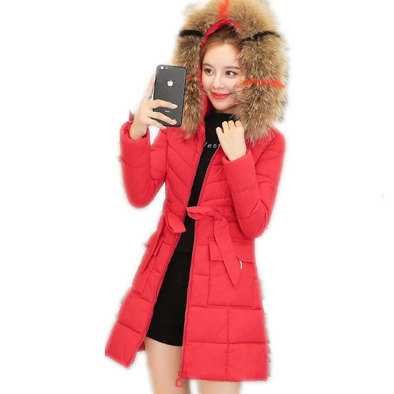 Winter Fashion Women Jackets 2019 New Arrival Down Cotton Jacket Medium-Long   Parkas   Hooded Fur Collar Winter Coats Women TopQ811