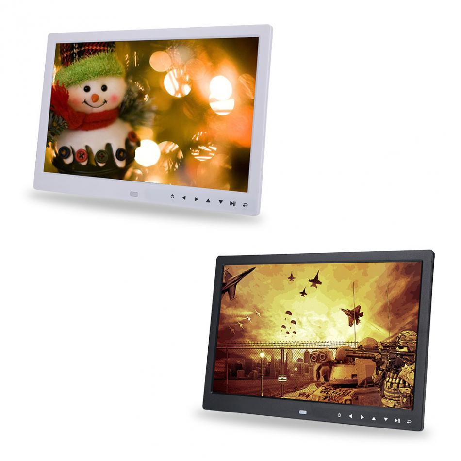 HD Digital Photo Frame TFT LED 15 inch 1280*800 Picture Photo Frame With Remote Control Alarm Clock MP3 MP4 Movie Player 9 7 hd digital photo frame with remote control silver