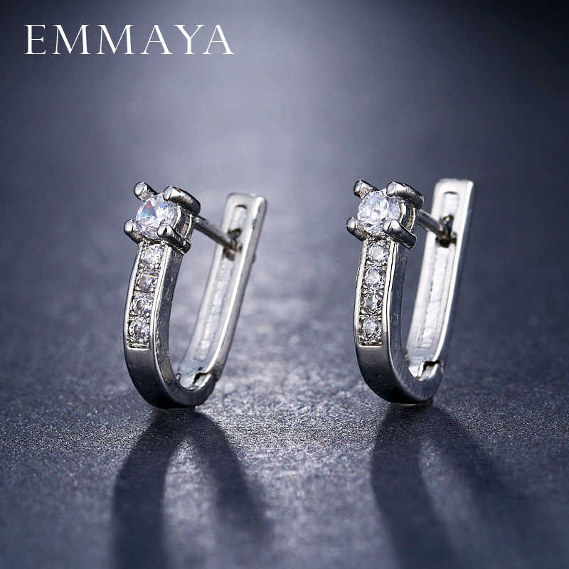 EMMAYA Wholesale Cheap Brincos Earrings Delicate Cute Cz Tiny Mini Earring Girl Women Gift