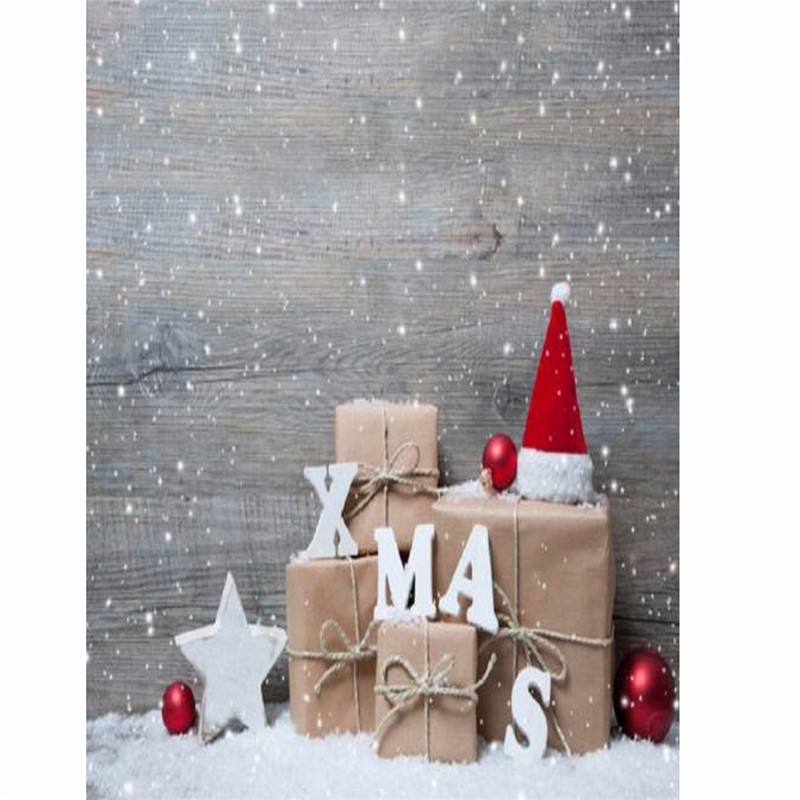 0.9x1.5m Photography Vinyl Background Christmas Gift Wood Snow Xmas Color Fidelity Waterproof Prop Photo Studio Backdrop vinyl studio backdrop photography prop christmas photo background 7x5ft