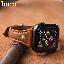 Hoco Original Women bracelet strap for Apple watch series 4 3 2 1 Diamond Genuine leather band Iwatch 38mm 42mm 40mm 44mm