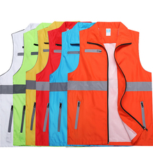 Reflective Vest Volunteer Worker Running High Visibility Reflective Safety Clothing Workplace Road Warning Clothes Coverall