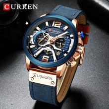 Top Brand Luxury CURREN Chronograph Mens Watches Waterproof