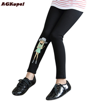 AGKupel Spring Autumn Cotton Girls Leggings Toddler Baby Girls Skinny Pants Kids Cute Cartoon Print Stretchy