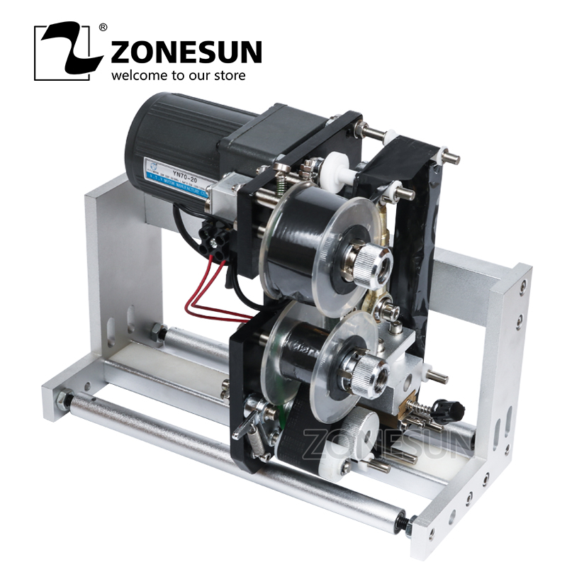 ZONESUN FREE SHIPPING Expiry Date Ribbon Coding Label Printer Hot Ribbon Coder For LT-50 Labeling Machine applicatori di etichette manuali