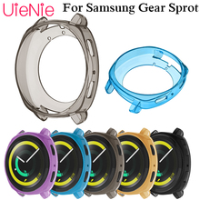 Soft silicone watch full case for samsung gear sport smart clear soft Tpu protection cover dial accessories