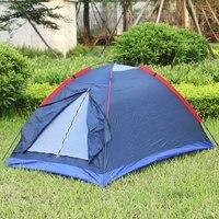 Strand Camping Zelt Outdoor Wandern Zelt Kit Fiberglas Pole Wasser Widerstand mit Tragen Tasche für Wandern Reisen Zwei Person
