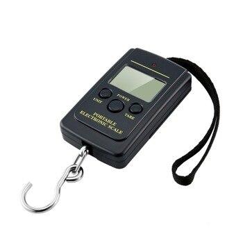 Di carico 40Kg LCD Mini Protable Pocket Digital Ponderazione Pesca Bilancia Elettronica Attaccatura Multi Utilizzato Balance Pesce Bilancia Peso Auto