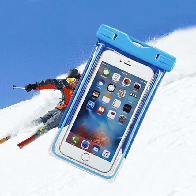 super popular d06eb c5f7a US $3.4 21% OFF|Waterproof Case For Mobile Phone Dry Transparent Bag Touch  Screen Under Water Case For Xiaomi Mi A1 A2 5C Redmi Note 5A Funda 5X-in ...