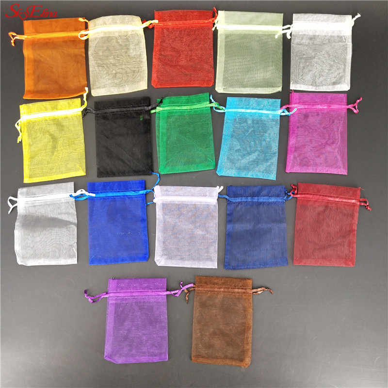 Hot Sale 7x9cm 50pcs/bag Pick 19Colors Jewelry Packaging Drawable Organza Bags,Gift Bags & Pouches,Jewelry Packing Bags 7ZSH312
