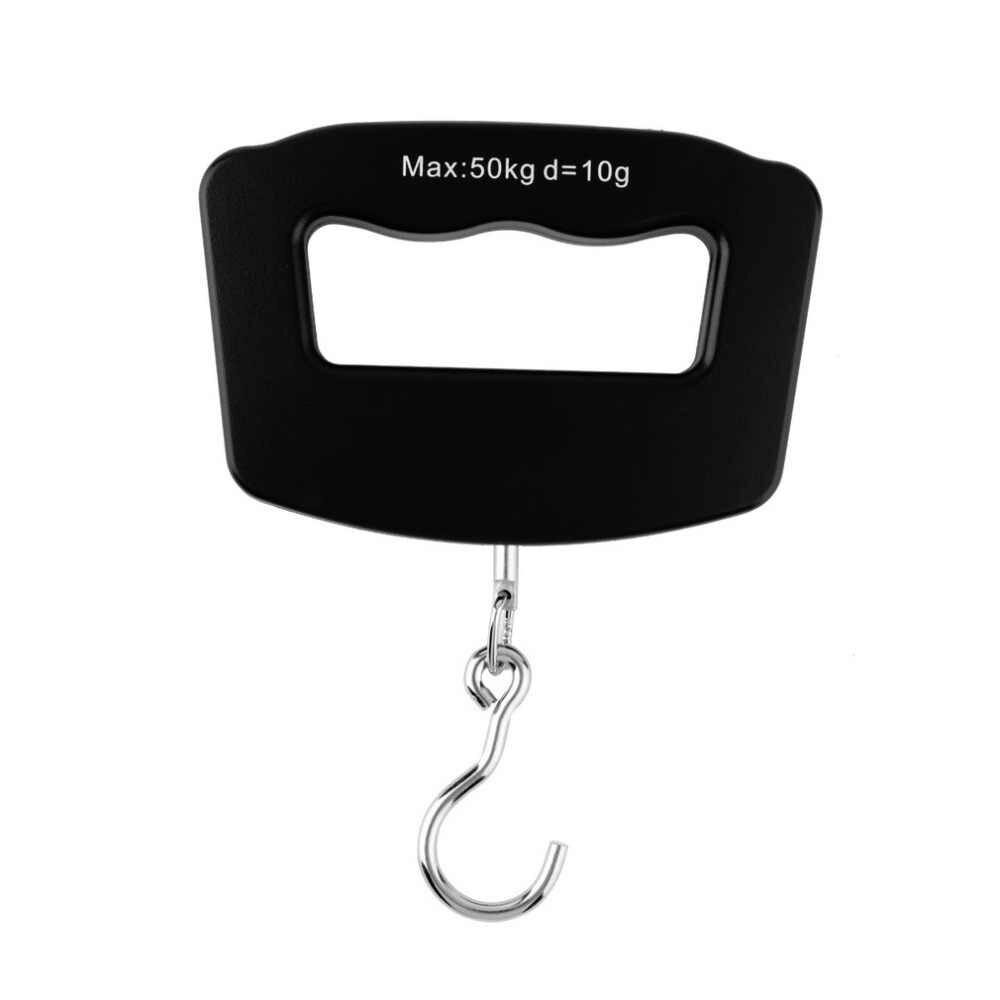 Mini plastique tenu dans la main 50 kg/10g LCD numérique pêche suspendue balance électronique crochet de poche poids échelle de bagages
