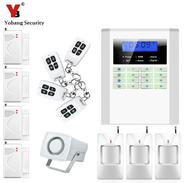 Yobang Security- Home Security Alarm Smart Home Wireless Alarm GSM Home Voice Alarm Gsm Alarm Security System with Quad-band yobang security wireless gsm