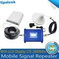 Полный Набор Усиления 70дб 4 Г LTE 2600 мГц Умный Сотовый Телефон Усилитель Сигнала Повторитель Мобильного Сигнала Сотовой Усилитель С ЖК-Дисплей