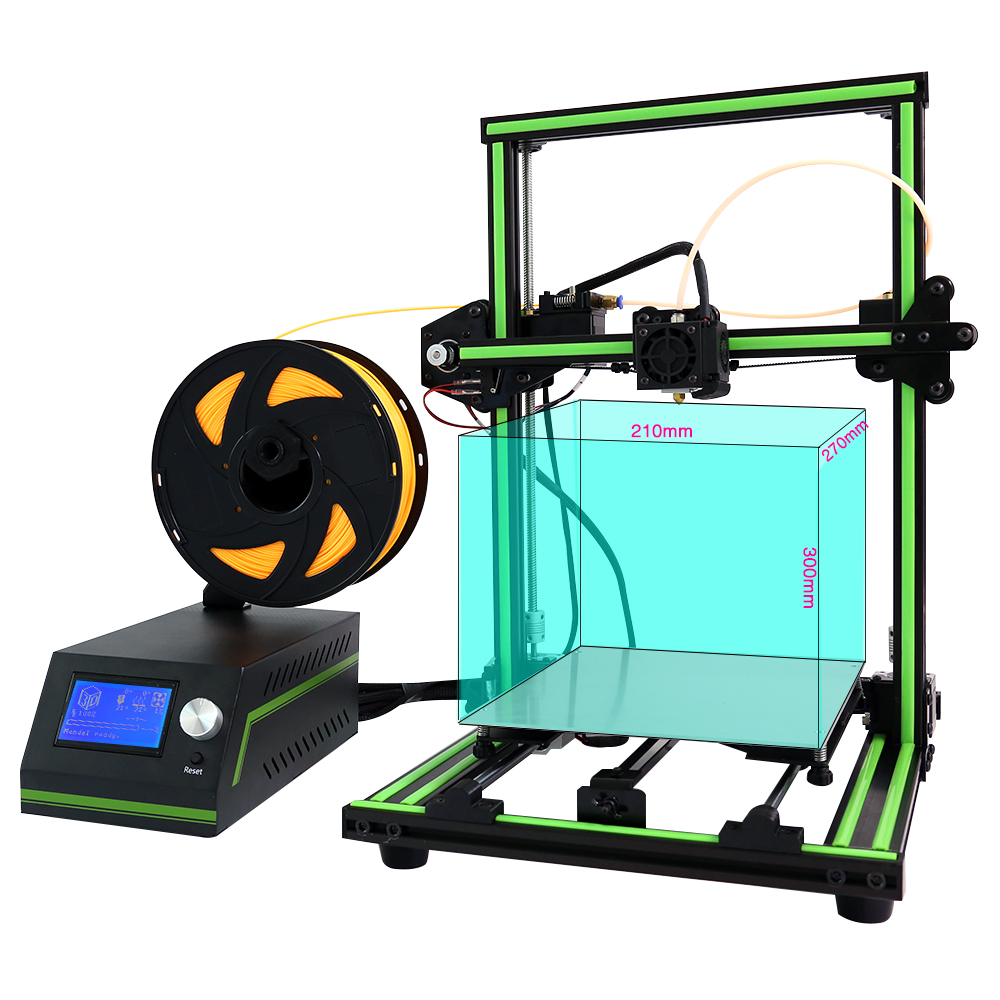 New Anet E10 3d printer DIY Kit High precision Aluminum Frame Reprap Prusa I3 3D Printer Off line Printing with 10m PLA Filament