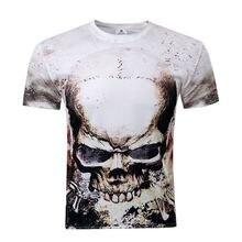 Nueva Unisex de la camiseta 3d Print Camiseta Impresa Cráneo O CUELLO Ropa de Moda de Verano camiseta de Manga Corta Camisetas Marca Hombres Tops M-4XL(China (Mainland))