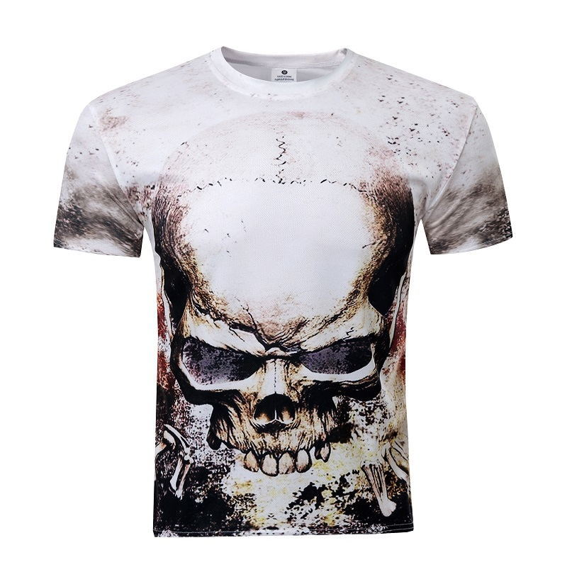 Online buy wholesale skull tshirt from china skull tshirt for Buy printed t shirts wholesale