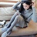 Primavera Outono 40D Seamless Meia-calça CINZA Cor Sólida das Mulheres Meias Finas Calças Justas Feminino WZ818