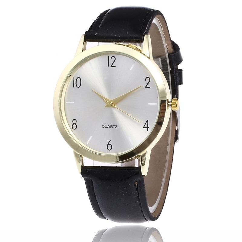 Women Watches Fashion Bracelet PU Leather Strap Analog Quartz Round Wrist Watches Casual Female Watch relogio feminino Dropship