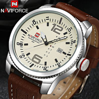2016 NAVIFORCE Famous Brand Watches Men Simple Military Sports Watches 3ATM Waterproof Japan Quartz Yellow Dial