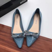 2019 New Melissa Pointy Solid Women Flat Sandals Brand Melissa Adulto S