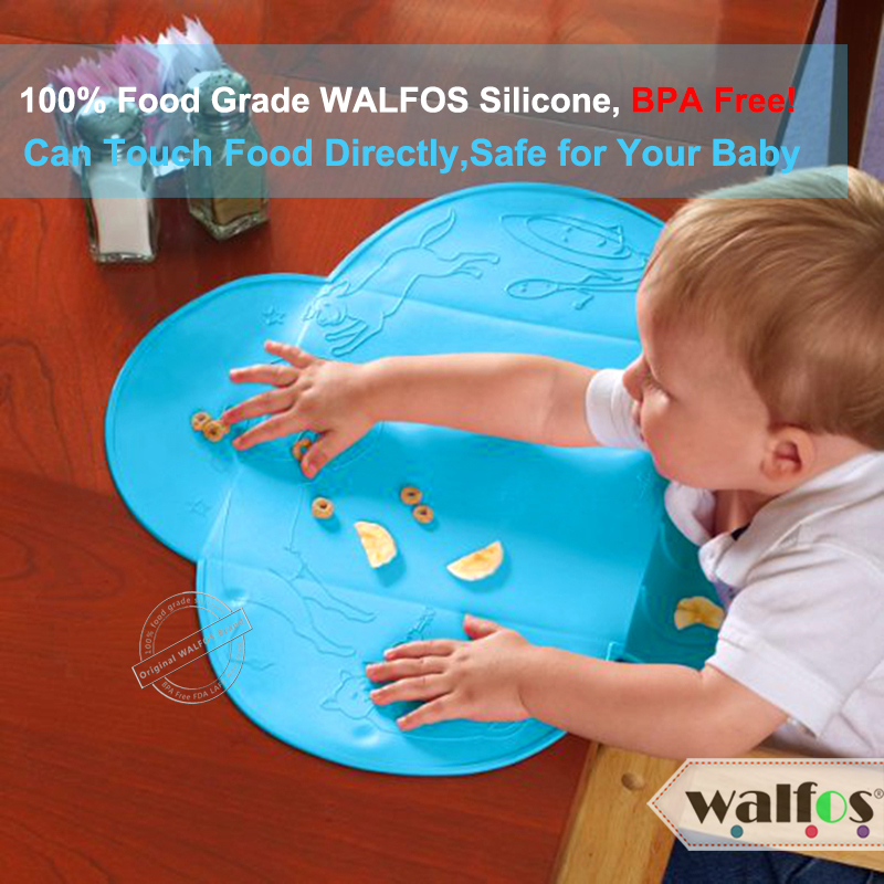 WALFOS matkvalitetssilikon Barnbib Bordsmatta Spädbarn Liten - Kök, matsal och bar - Foto 2