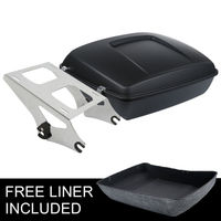 Matte Chopped Tour Pak Pack Trunk & Mounting Rack For Harley Touring Model Road King FLHR Street Glide FLHX 14 18 Motorcycle