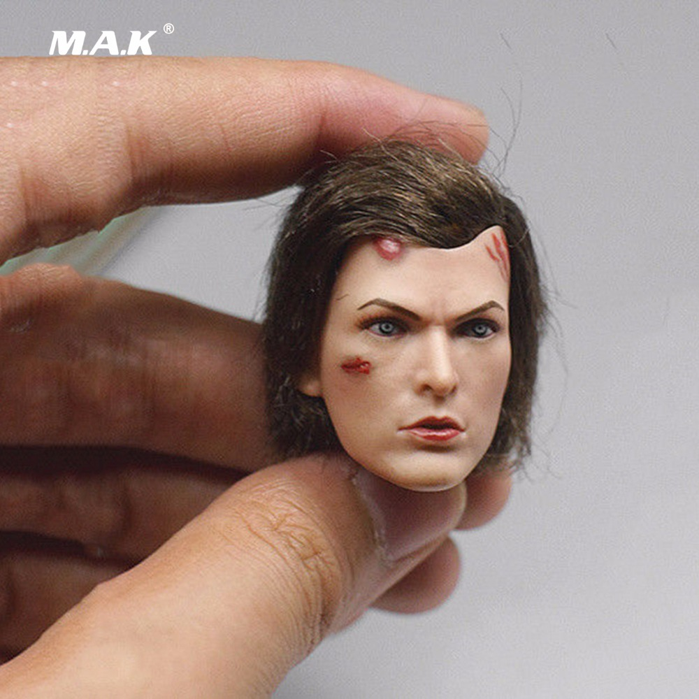 все цены на 1/6 Scale Resident Evil The Final Chapter FS009 Alice Battle Damage Version Head for 12 inches Female Action Figure онлайн