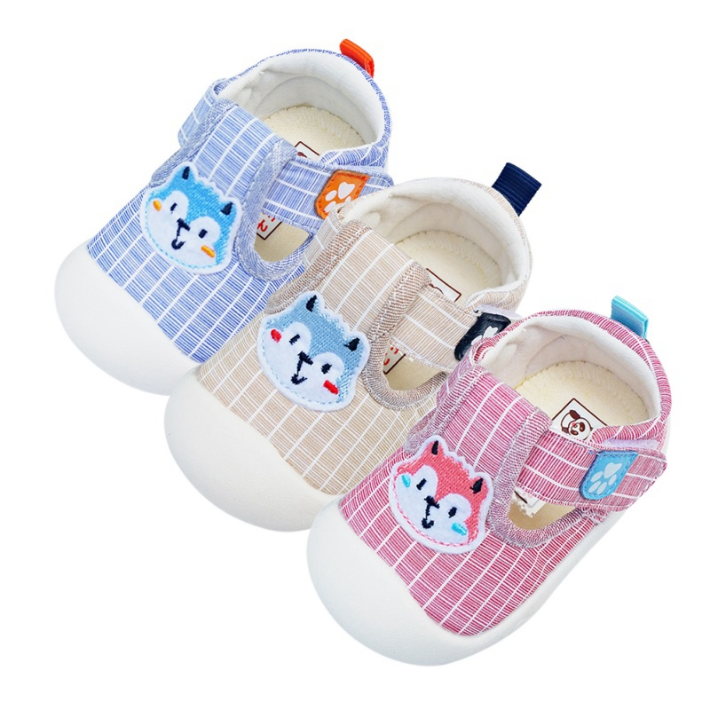 2019 New Skid-Proof Fox Baby Shoes Soft Genuine Leather Baby Boys Girls Infant Toddler Moccasins Shoes Slippers First Walkerss