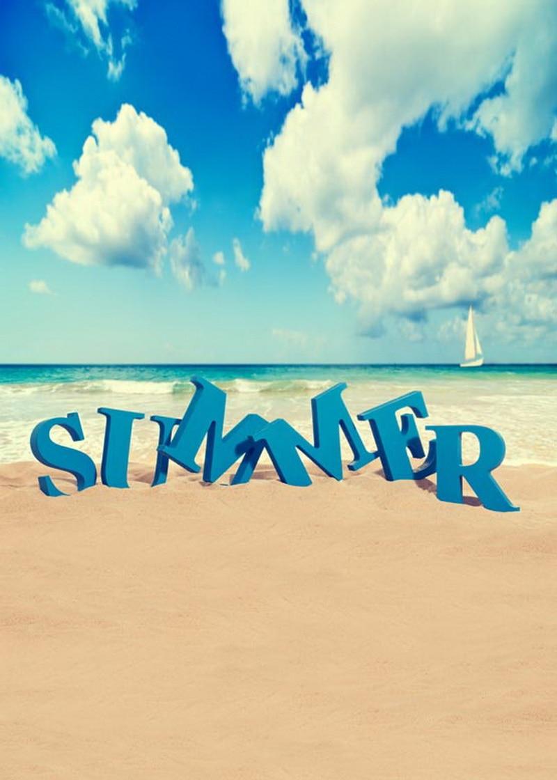 Summer holiday photography backdrops vinyl printing photo