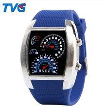 Top Marca TVG Hombres Reloj Digital Resistente Al Agua de Lujo de Los Hombres De Goma Relojes Deportivos Reloj de Pulsera para Hombres Relogio masculino reloj