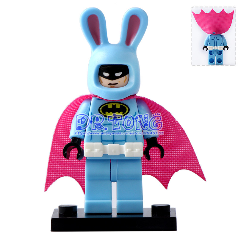 DR.TONG 20pcs/lot Pg178 Easter Bunny Batman with Purple Cape DC Super Heroes Batman Movies Building Bricks Blocks Toys Gifts