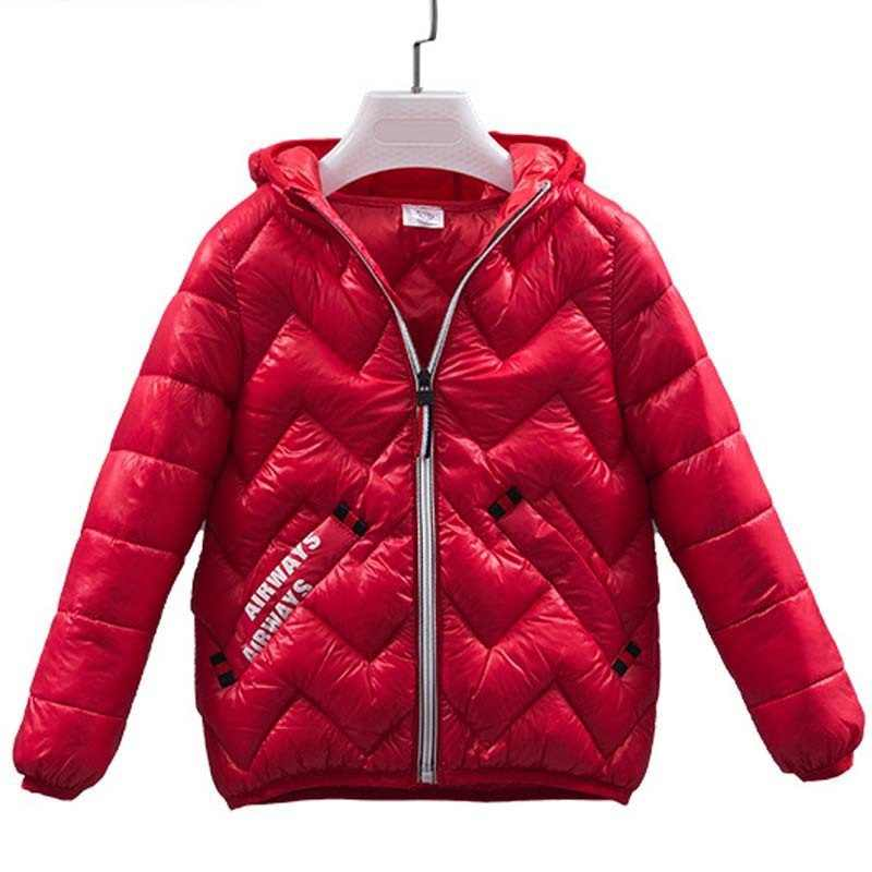 3-10 years autumn and winter new children's down cotton pad light boy girl cotton jacket baby warm fashion letter jacket