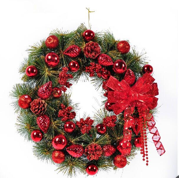 venta caliente del envo libre de navidad colgante de pared 45 cm pineal guirnalda de la