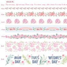 10pcs/lot Ocean Stars Wisteria Floral Cute Paper Masking Washi Tape Set Japanese Stationery Kawaii Scrapbooking Supplies Sticker(China)