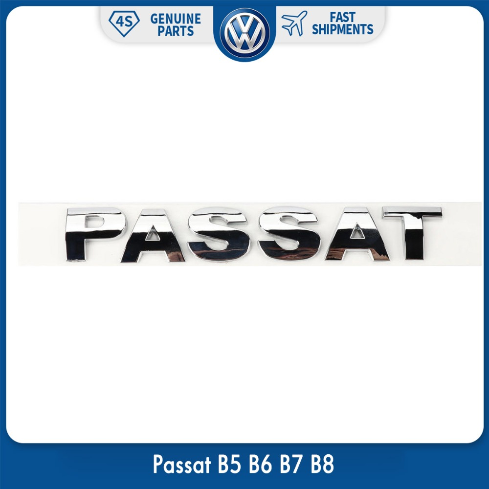 OEM Original Rear Trunk Lid Chrome Silver Emblem Sticker Passat for VW Volkswagen Passat B5 B6 B7 B8 100mm oem rear trunk lid badge emblem chrome logo car sticker for vw volkswagen jetta mk6 vi polo passat variant 5c6 853 630 ulm