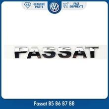 OEM Original Rear Trunk Lid Chrome Silver Emblem Sticker Passat for VW Volkswagen Passat B5 B6 B7 B8 oem jetta emblem rear trunk lid car accessories decal badge sticker for vw volkswagen logo silver chrome