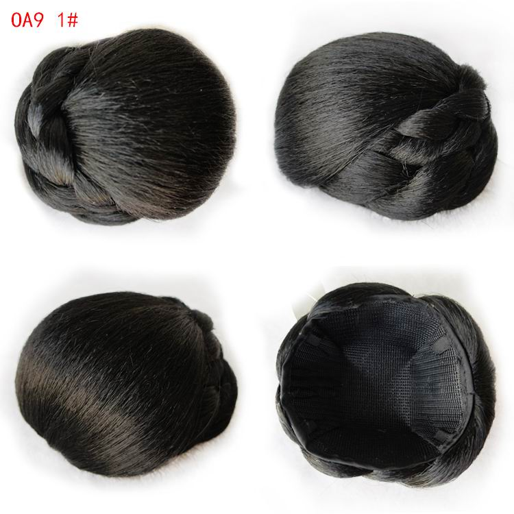 9CM Drawstring Chignon Hair Rope Hair Bun Updos Extension Donut Roller Chignons Clip-in Bun Synthetic Hair Accessor OA9