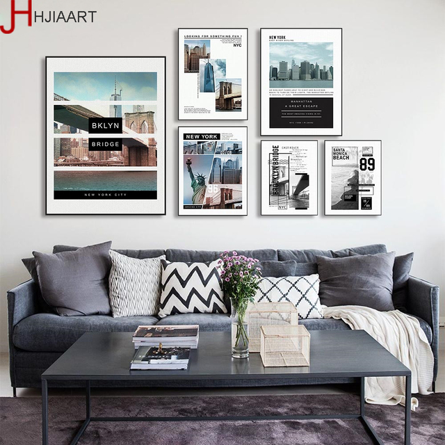 No Frame City Landmark New York Statue of Liberty Poster Nordic Living Room Wall Art Pictures Home Decor Canvas Painting