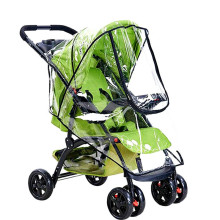 Waterproof rain cover for baby stroller accessories Transparent Windproof raincoat cart strollers Zipper opens Baby Car