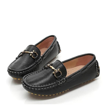 Boys Loafers 2019 Spring Autumn Children's shoes Soft comfortable Genuine leather Driving shoes Korean girl princess shoes 02B