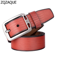European And American Style Fashion Automatic Buckle Belts Men S Business Straps Crocodile Genuine Leather Free